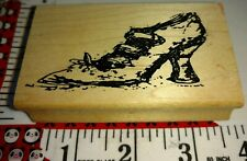 Old witches shoe, art impressions, C30,rubber,stamp, wood, make offers!