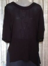 Viscose Tunic Dry-clean Only Solid Tops for Women