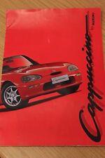 Suzuki Cappuccino Sports Car Sales Brochure Large Format 1993 UK Market