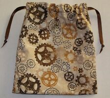 Steampunk Vintage Cogs Tarot, Runes, Crystals  Angel Bag