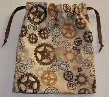 Steampunk Vintage Cogs Tarot, Runes, Crystals  Angel Bag