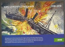 2018 IRELAND RMS LEINSTER AN POST LARGE FORMAT POSTCARD FIRST DAY CANCELLATION