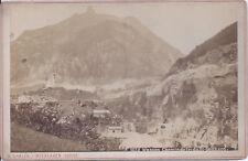 1880s GABLER CABINET CARD PHOTO WASSEN SWISS CHEMIN DE FER DU ST GOTHARD