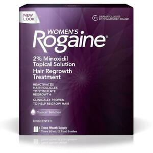 Rogaine Women's 2% Minoxidil Topical Solution - 3 Month Supply! BEST HAIR GROWTH