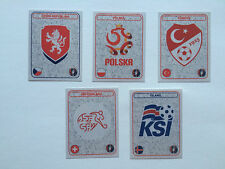 PANINI EURO 2016 LOT 5 ECUSSONS STAR EDITION VERSION SUISSE STICKERS FOOTBALL