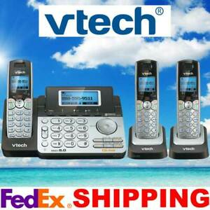 VTECH DS6151 DECT 6.0 2-LINE CORDLESS PHONE + 2 CORDLESS HANDSETS - NEW