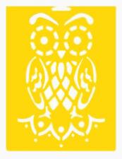 """8"""" OWL STENCIL BIRD TEMPLATE BIRDS BRANCH CRAFT PAINT ART TEMPLATES NEW BY DELTA"""