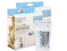 Cherub Baby Reusable 45pk Breast Milk Bags with Thermosensor
