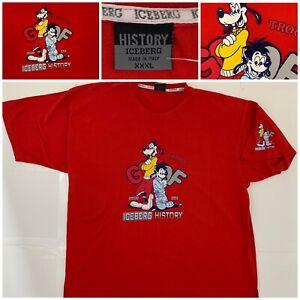 Vintage ICEBERG HISTORY Goof Troop Goofy & Max T Shirt SZ XXXL Italy
