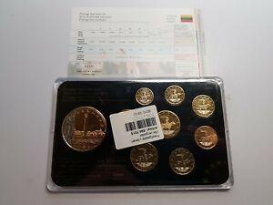 1 Cent - 2 Euro Trial Specimen Prestige Set Excellent Condition Coins Lithuania