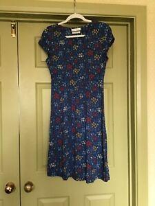 Seasalt blue multi dress size 10