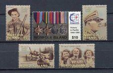 28212) NORFOLK ISLAND 1995 MNH** Nuovi** End of world war II 5v