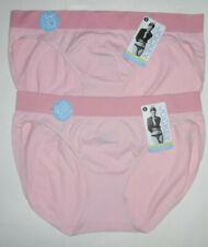2 Jockey Bikini Panty Set Stretch Nylon Microfiber Seamfree 8 XL Tonal Pink NWT