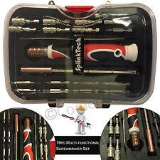 SplinkTech 19pcTweezer Hex Socket Multi-functional Steel Screwdriver Set & Bits