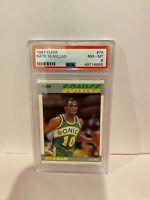 1987 Fleer Nate McMillan Seattle Super Sonics HOF Basketball Card PSA Mint 8 #75