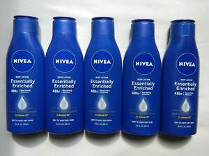 Lot of 5 Nivea Essentially Enriched 48hr Body Lotion 8.4 fl oz Each