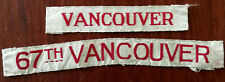 More details for canada 67th vancouver sew-on vintage badges x 2