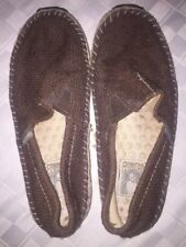 4a1cfbf8f3e8a7 Green Toe Simple Women s Shoes Espadrilles Hemp Brown Size 9.5 slip on  loafer