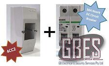 Noark DC Circuit Breaker 50A 2 Pole& Switchboard Enclosure Clipsal 4CC2 Combo