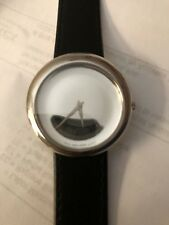 MOVADO Museum Precious Rare All Sterling Silver Round Dot. Impossible To Find!!