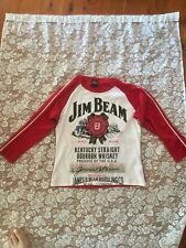 Jim Beam Authentic Long Sleeve Red & White T Shirt size L from 2003