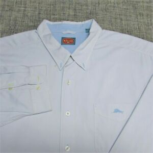 TOMMY BAHAMA LONG SLEEVE BUTTON UP SHIRT--3XB--MARLIN--DRY CLEANED--SPOTLESS!!