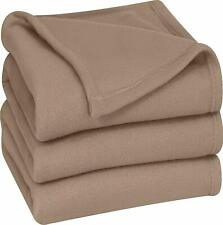 Thermal Bed Blanket Polar Fleece Soft Brush Fabric by Utopia Bedding