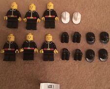 Lego 70/80s 6xVintage Firemen Fireman Minifigure Tank Helmet Chief