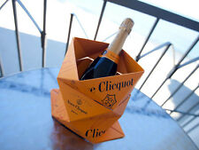 Champagne Veuve Clicquot Ponsardin Ice Bucket Clicq' Up Orange Foldable Bucket