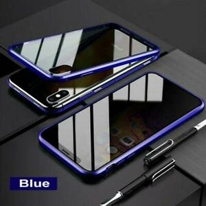 Anti-Peep Dual Layer Magnetic Phone Case Privacy Protective Tempered Glass Cover