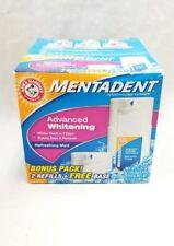 Mentadent Toothpaste 2 Refills Refreshing Mint Advanced Whitening Plus Base
