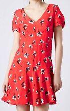 Topshop V-Neck Floral Regular Size Dresses for Women