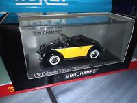 MINICHAMPS 1/43 VW CABRIOLET 2 SITZER HEBMULLER NEUF EN BOITE