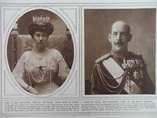 1915 KING CONSTANTINE & QUEEN SOPHIE OF GREECE SISTER OF THE KAISER WWI WW1