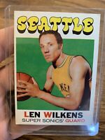 Lenny Wilkins 1970 #80 Seattle SuperSonics Basketball Card🔥🔥🔥🔥🔥
