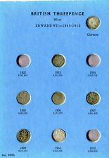 More details for gb whitman folder of silver threepences 1902-1945,   6 missing
