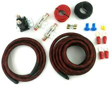 Heavy Duty Dual / Auxiliary Battery Isolator Snakeskin Cables Complete Kit Fuses