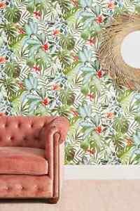 Anthroplogie Green Tropical Rainforest Wallpaper Single Roll 60 Sq Ft