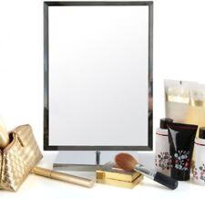 Premier Housewares Large Rectangle Standing Adjustable Mirror on Chrome