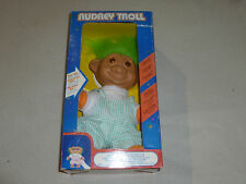 NEW IN BOX AUDREY TROLL DOLL FIGURE BATTERY OPERATED LIGHT UP FACE VINTAGE GLOW