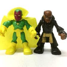 "2Pcs Nick Fury & VISION PlaySkool Heroes Marvel Super Hero Squad 2.5"" toy gift"
