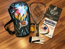 Ektelon Power Pack Plus Racquetball Starter Kit Grip 3-5/8 + book, glove