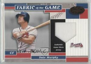 2002 Leaf Certified Fabric of the Game Bronze Die-Cut Plate /100 Dale Murphy