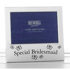 Special Bridesmaid Photo Frame Satin Silver Wedding Favour Gift Present