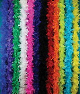 50 GRAM 6FT Feather Boas Costumes Dress Up Parties Crafts Holidays Decor Wedding