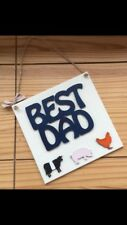 Fathers Day gift/ sign/ home made/ 8x8 inch plaque with farm animals