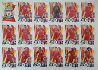 2020/21 Match Attax UEFA Champions League - Liverpool team set (18 cards)