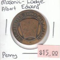 Masonic - Lodge Albert Edward - Penny