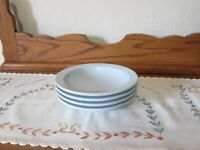Lot of 4 Vintage Pastel Blue Boonton Ware Melmac Small Bowls
