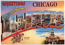 Magnet Greetings From Photo Magnet Chicago Illinois 1930s Travel